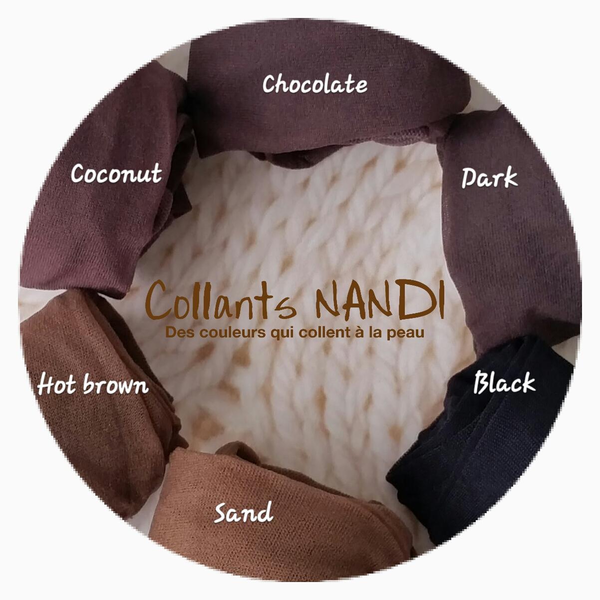 nouvelle collection les mieux notés gamme complète d'articles ACCUEIL DU SITE Collants NANDI, pour peaux noires et metissees